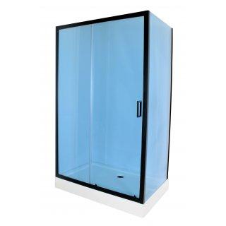 Kabina prysznicowa prosta 100x80 cm Doris Black LIVENO