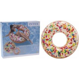 Kółko do pływania dmuchane - wzór donut 114 cm