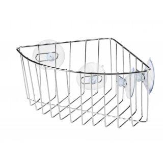Koszyk łazienkowy narożny z przyssawkami GALICJA