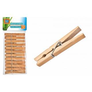 Klamerki do bielizny bambusowe 12 szt. RAVI