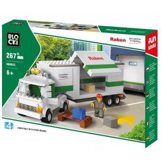 Klocki Long Truck Raben 267 elementów BLOCKI
