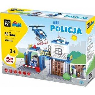 Klocki Policja 58 elemnetów BLOCKI