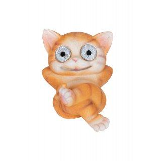 Kot ze świecącymi oczami LED solarny rudy KAEMINGK