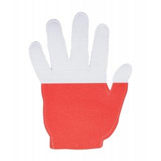 Łapa kibica Biało-Czerwona