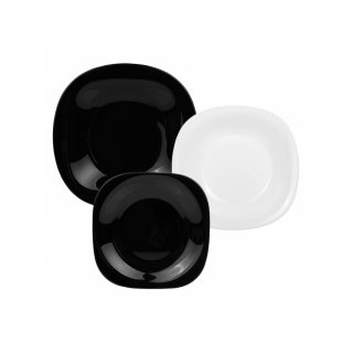 Komplet obiadowy Carine White & Black 18-elementowy LUMINARC