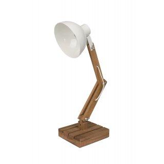 Lampka dekoracyjna drewniana 15x18x42 cm KAEMINGK