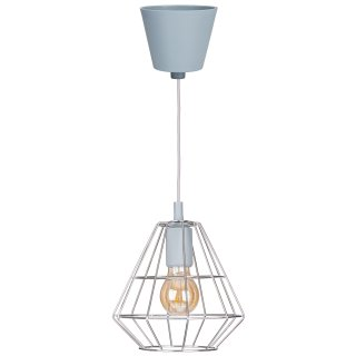 Lampa wisząca sufitowa retro1xE27 srebrna