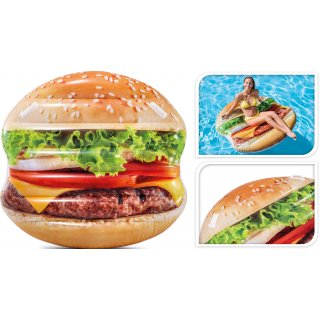 Materac dmuchany w kształcie hamburgera 145x142 cm