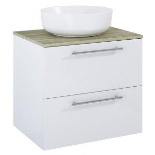 Zestaw mebli łazienkowych Modo 2S 60  Biały-Sanremo z umywalką Lorca