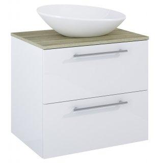 Zestaw mebli łazienkowych Modo 2S 60  Biały-Sanremo z umywalką Oxy