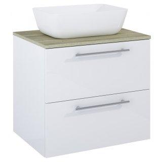 Zestaw mebli łazienkowych Modo 2S 60  Biały-Sanremo z umywalką Reni