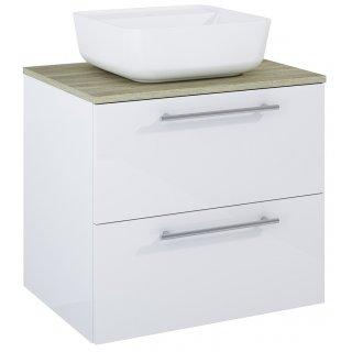 Zestaw mebli łazienkowych Modo 2S 60  Biały-Sanremo z umywalką Tonia