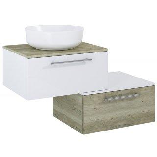 Zestaw mebli łazienkowych Mod 60 + 60 Biały-Sanremo z umywalką Lorca