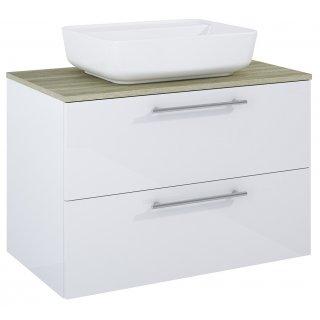 Zestaw mebli łazienkowych Modo 2S 80  Biały-Sanremo z umywalką Enzo