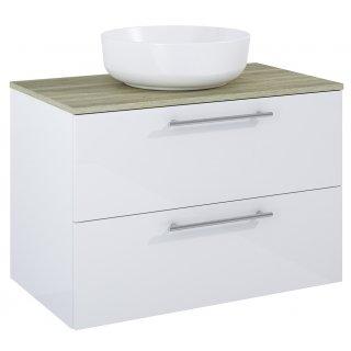 Zestaw mebli łazienkowych Modo 2S 80  Biały-Sanremo z umywalką Lorca