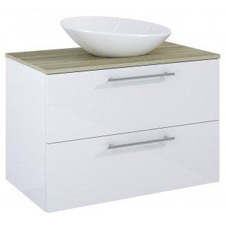 Zestaw mebli łazienkowych Modo 2S 80  Biały-Sanremo z umywalką Oxy