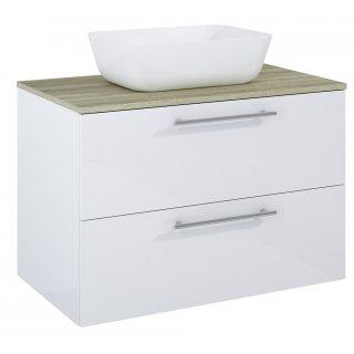 Zestaw mebli łazienkowych Modo 2S 80  Biały-Sanremo z umywalką Reni