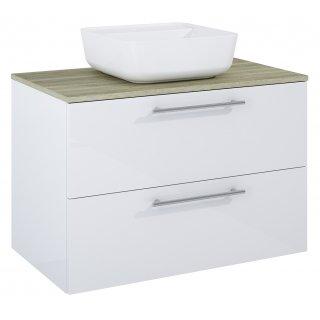 Zestaw mebli łazienkowych Modo 2S 80  Biały-Sanremo z umywalką Tonia