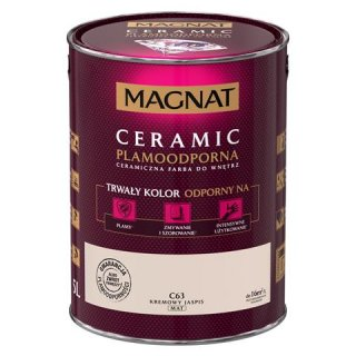 Farba ceramiczna 5 L Kremowy Jaspis MAGNAT CERAMIC