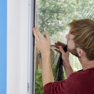 Moskitiera do drzwi Standard 2x65 cm x 220 cm biała TESA