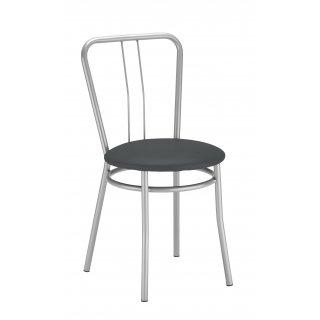 Krzesło kuchenne kolor szary ALBA ALU NOWY STYL