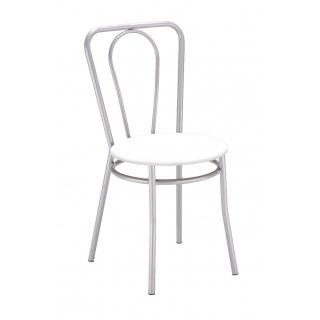 Krzesło kuchenne kolor biały malia alu NOWY STYL