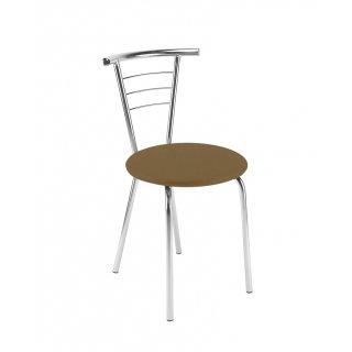 Krzesło tapicerowane Marco Chrome cappuccino NOWY STYL