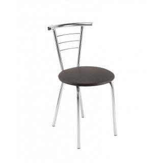 Krzesło tapicerowane Marco Chrome szare NOWY STYL