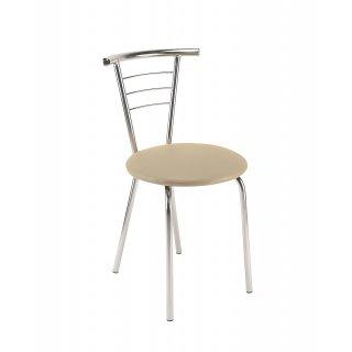 Krzesło tapicerowane Marco Chrome kremowe NOWY STYL
