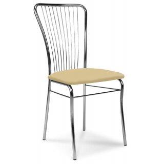 Krzesło tapicerowane Roma Silver beż NOWY STYL