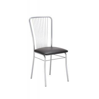 Krzesło tapicerowane Roma Sillver czarne NOWY STYL