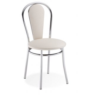 Krzesło tapicerowane kremowe Vida NOWY STYL