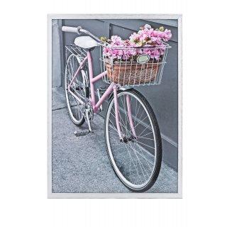 Obraz na ścianę motyw różowy rower KNOR