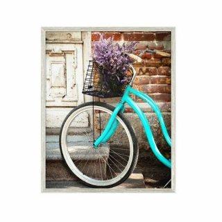 Obraz na ścianę motyw rower i lawenda KNOR