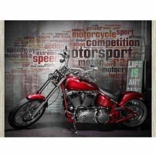 Obraz na ścianę motyw czerwony motocykl KNOR