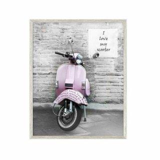 Obraz na ścianę motyw różowy skuter KNOR