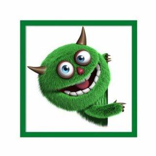 Obraz na ścianę motyw zielony potworek KNOR