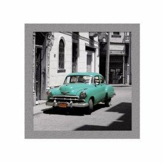 Obraz na ścianę motyw zielony samochód KNOR
