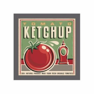 Obraz na ścianę motyw ketchup KNOR