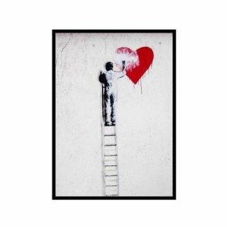 Obraz na ścianę motyw mężczyzna serce KNOR