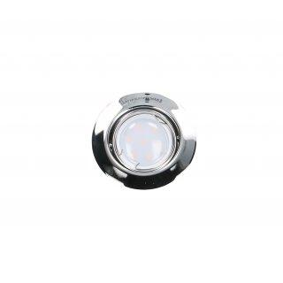 Oprawa sufitowa okrągła ruchoma chrom + żarówka LED 3W