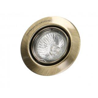 Oprawa sufitowa okrągła ruchoma antyczne złoto+żarówka 35W