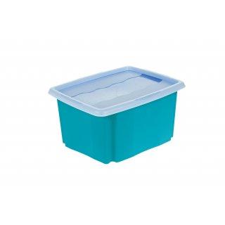 Skrzynka pojemnik Stack&Go 24l z pokrywą niebieski KEEEPER