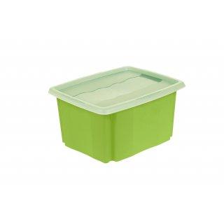 Skrzynka pojemnik Stack&Go 24l z pokrywą zielony KEEEPER