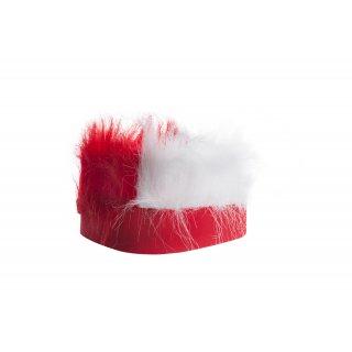 Peruka kibica z futrem biało-czerwona VOG