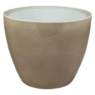 Osłonka ceramiczna 17 cm brązowy lazur CERMAX