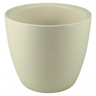 Osłonka ceramiczna 24 cm kremowa CERMAX