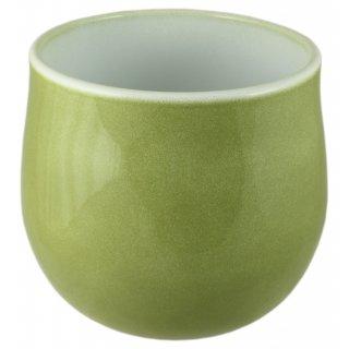 Osłonka ceramiczna 17 cm zielony lazur CERMAX