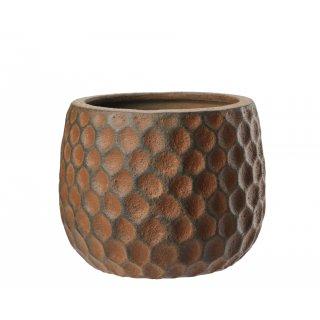 Osłonka ceramiczna Cube 20 cm terakota GALICJA