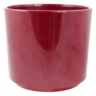 Osłonka ceramiczna Cylinder 14 cm bordowa CERMAX
